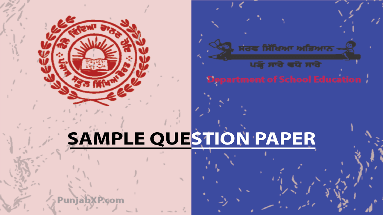 Model Question Paper – Punjab Govt  Notification